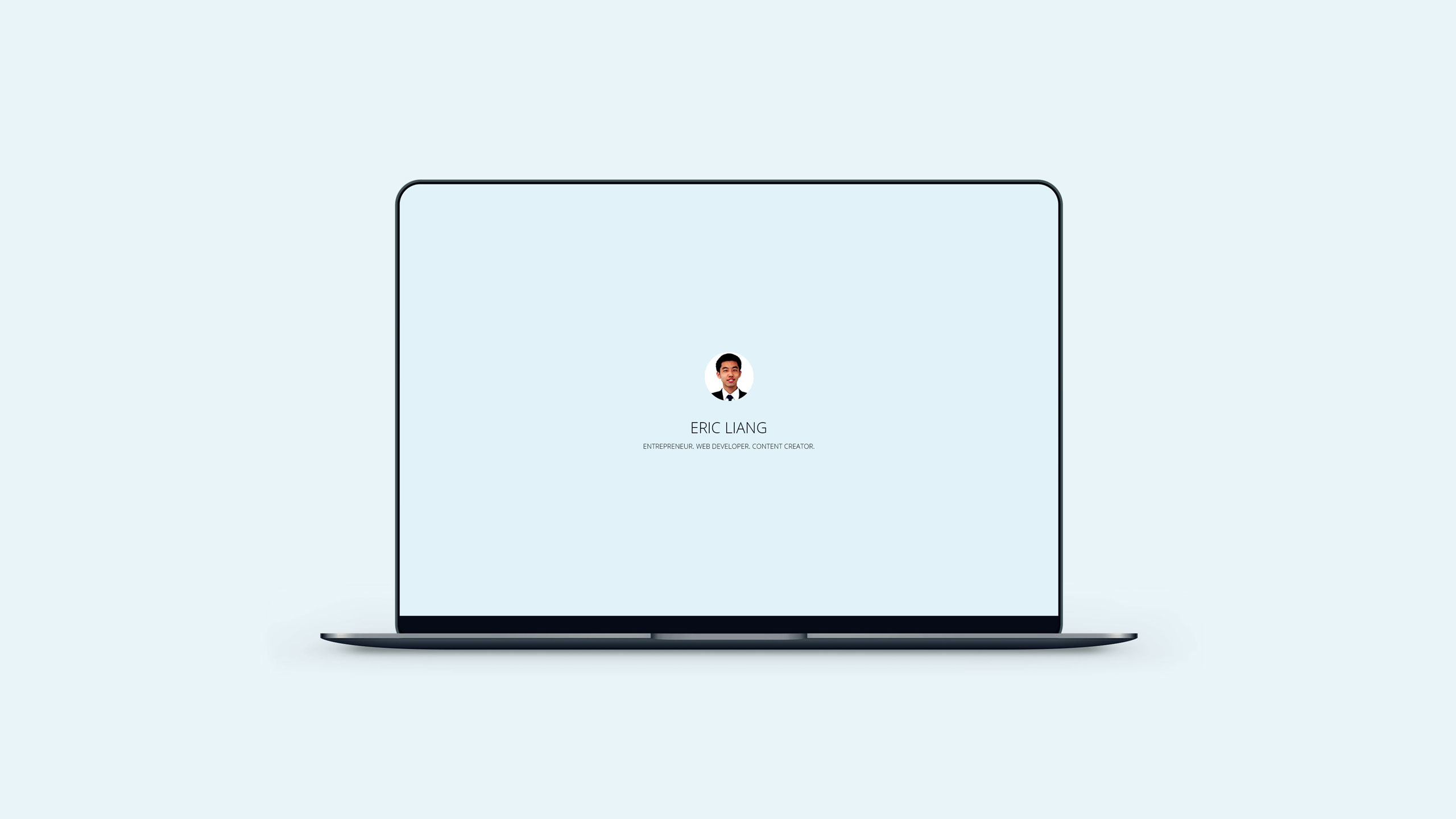Eric Liang Personal Website Project Portfolio Cover