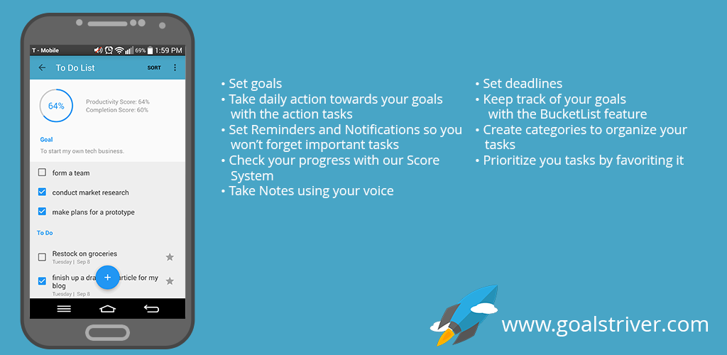 Launched the Goal Striver App for Android