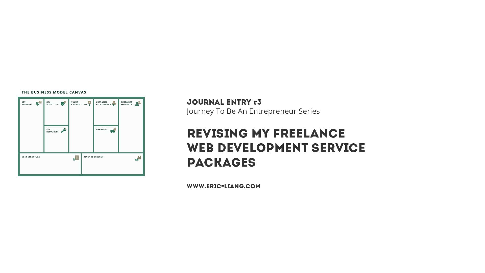 Journal Entry 3: Revising My Freelance Web Development Service Packages
