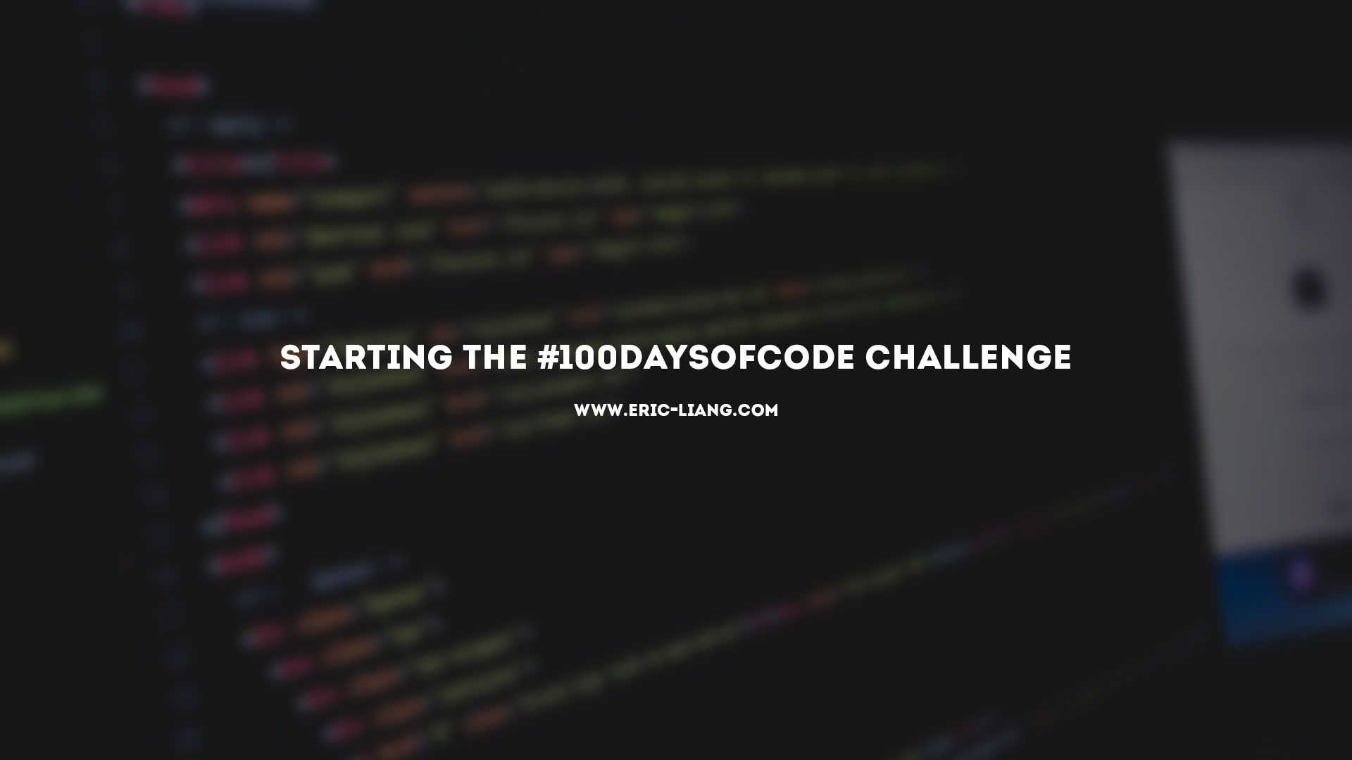 Starting The 100DaysOfCode Challenge