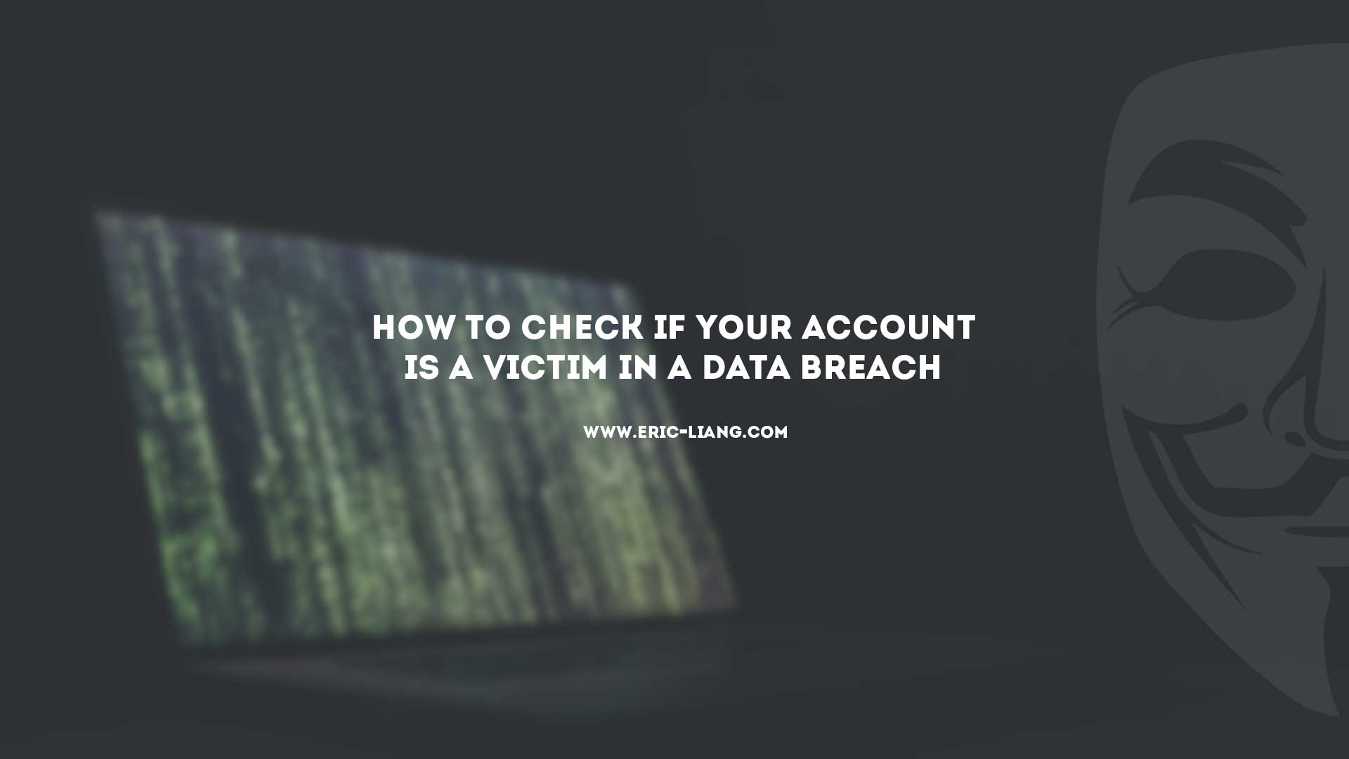 How To Check If Your Account Is A Victim In A Data Breach