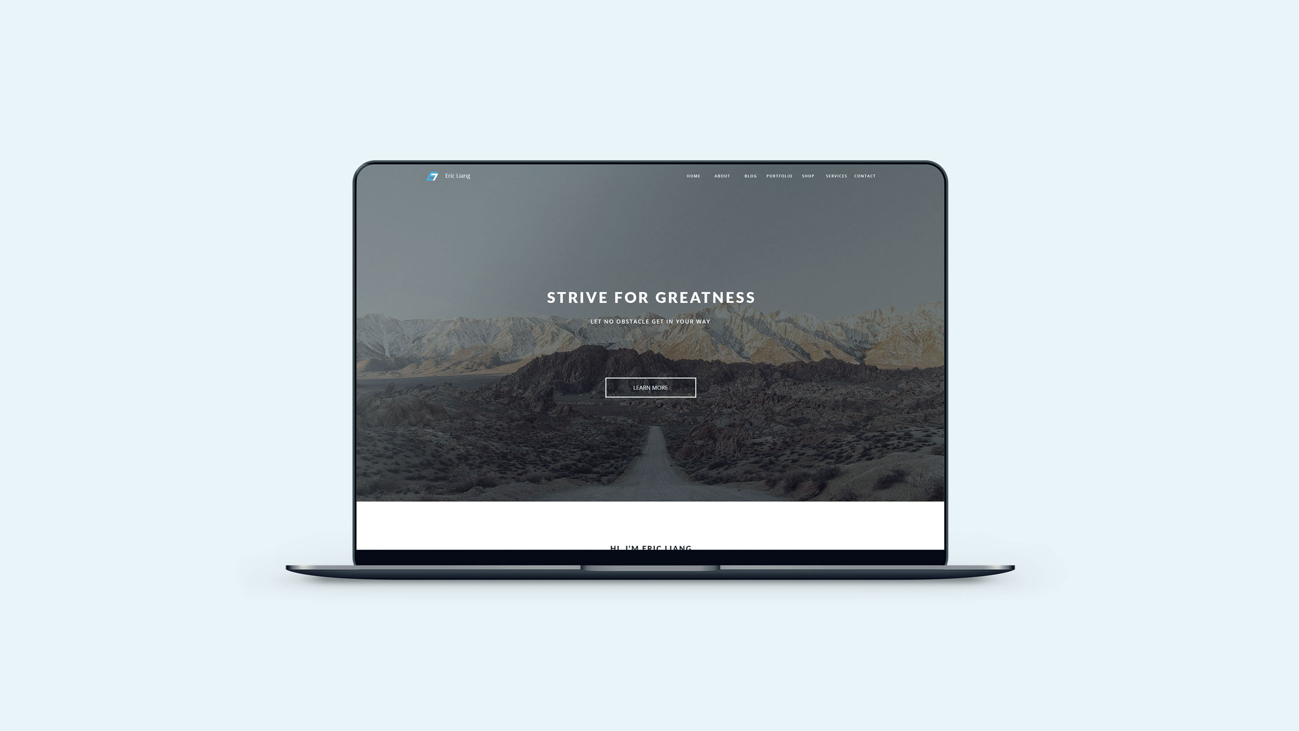 Eric Liang Personal Website 2017 Portfolio Project Cover